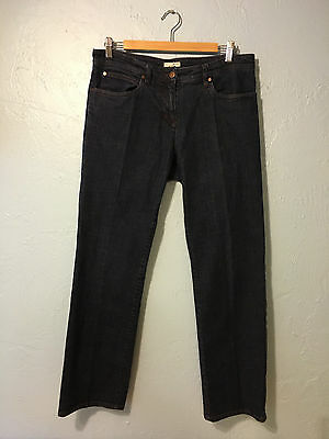 Eileen Fisher Womens Sz M Denim Blue Jeans Straight leg Dark Wash Inseam 29