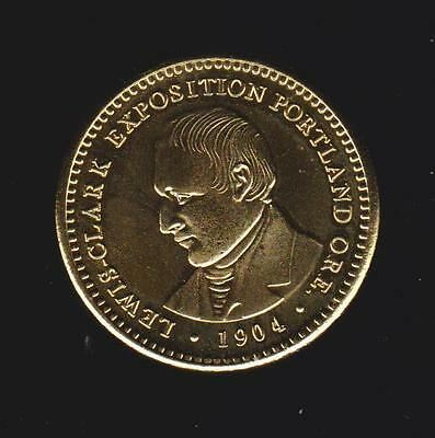 LEWIS & CLARK  EXPO   UNC  24k Gold Plated Tribute Coin (COPY)  ONE  DOL COIN