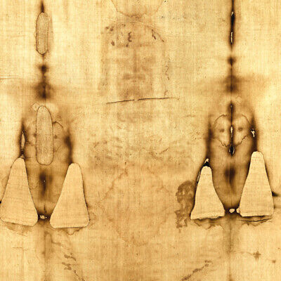Shroud of Turin Jesus Full Fabric Print Vintage Antique Relic New Art Easter