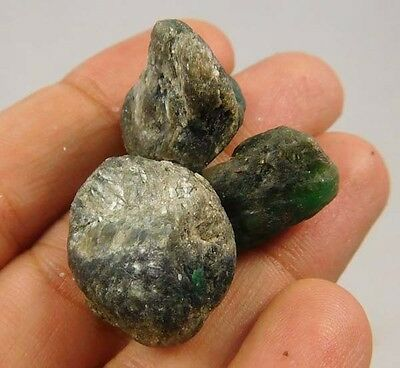 65 Cts. 100% Natural Emerald Fuchsite Lot Loose Cabochon Gemstone (NE645)