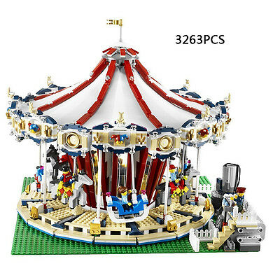 Grand Carousel Creator Building Blocks 3263 Pcs - With motor and battery box