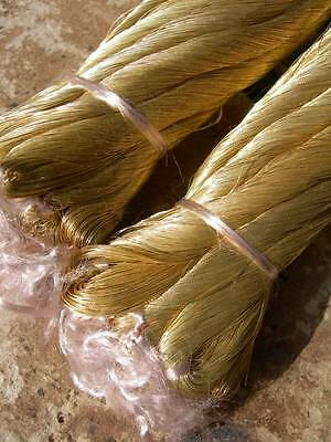 5 skeins antique French pure gold very fine embroidery thread