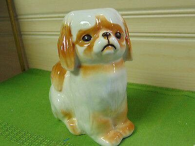 Pekingese Dog Figurine Made in Russia Art Pottery 5""
