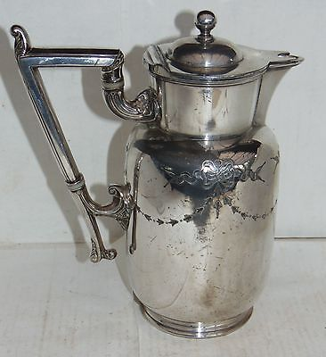 Antique Silver Plated Water Jug - James Dixon & Sons -   Britannia Metal