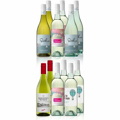 AU Mixed White Wine Featuring Rawson's Retreat Chardonnay (12x750ml) RRP$189