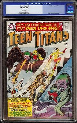 Teen Titans # 1 CGC 9.0 Off-White (DC, 1966) 1st Teen Titans in own series