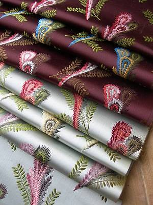 Antique French pure silk woven brocade fabric samples 1890s - Lyon archive (E)