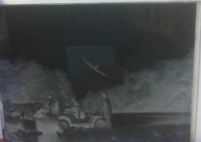 1 X Wwii Vintage/antique Glass Negative Photography Plate. Historical Images