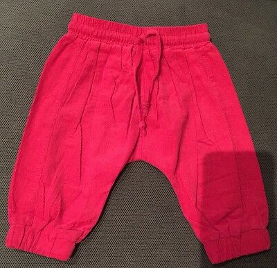 Bebe By Minihaha Baby Girls Hot Pink Cord Harem Pants Size 6 Months (00)