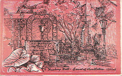 Postcard Wishing Well Court Two Sisters New Orleans LA