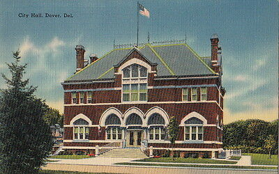 Postcard City Hall Dover DE Delaware