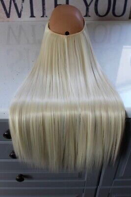 """Hair Extensions Halo Headband Hidden Secret Miracle Wire Synthetic 22"""" 140g"""