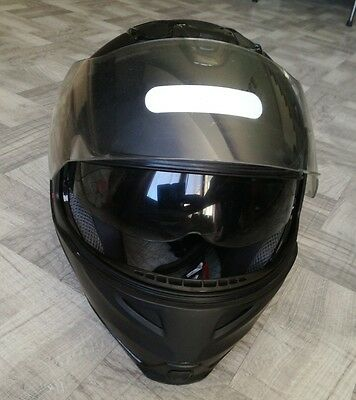 Casque integral moto scooter noir mat