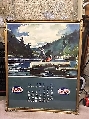 Vintage Pepsi Cola Calendar Poster From 1943