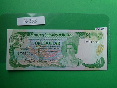 Banknote Belize 1980 1 Dollar High Quality  Cat Value 75.00   N253