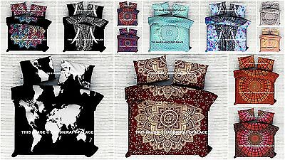 Indian Mandala Bedding Bed Sheet Set Hippie Cotton Bed cover With 2 Pillow Cover