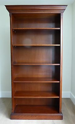 Attractive large reproduction period style bookcase, mahogany veneer