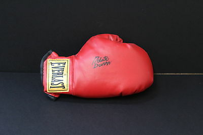 Roberto Duran Hand Signed Red Boxing Glove