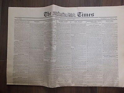 THE TIMES NEWSPAPER MAY 6th 1926 NEWS OF THE GENERAL STRIKE