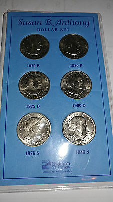 1979 & 1980 Susan B. Anthony  Set  P D S Mint - Uncirculated Dollar Coin
