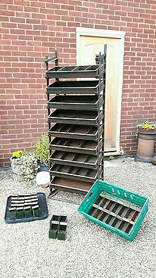 Large 6' old industrial storage shelves