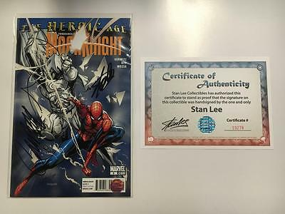 Vengeance Moon Knight #9 Signed Stan Lee Campbell Coa Marvel Variant Spider-Man