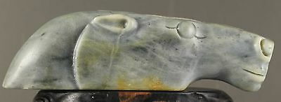 Chinese old natural jade hand-carved horse statue zodiac  NO.Y889