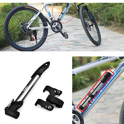 Portable Aluminum Alloy High Pressure Pump Bicycle Pump With Gauge Cycling Bike