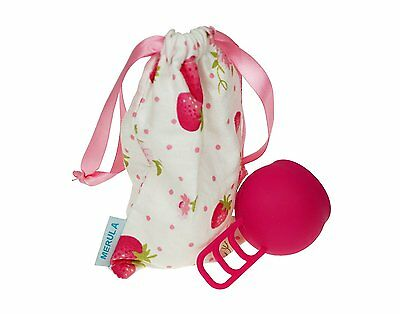 Merula Silicone Menstrual Cup - Strawberry (Pink)