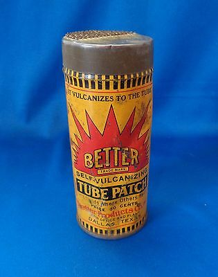 Tube Tire Patch Better Vulcanizing Dallas Texas Canco Tin Can Better Product Co.