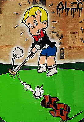 Alec Monopoly Banksy Oil Painting on Canvas Urban art Wall Decor Richie Rich