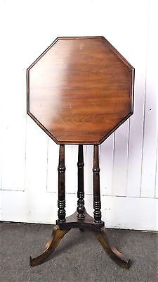 Antique Victorian mahogany tip up top occasional side table