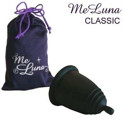 Me Luna Classic Menstrual Cup - Normal Length - Black - Ball, Ring or Stem