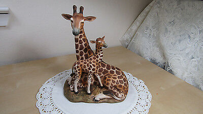 Vintage Giraffe Mother With Baby Figurine – Uctci Japan – Gorgeous!