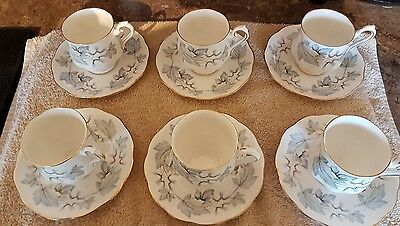 17 Piece Royal Albert Silver Maple Coffee Set