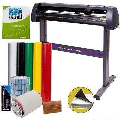 Vinyl Cutter USCutter MH 34in BUNDLE - Sign Making Kit w/ Design & Cut Software,