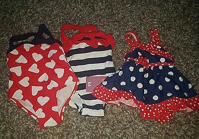 baby girl swimming costume size 3 - 6 months tu