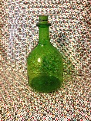 Vintage Green Gallon Glass Jug