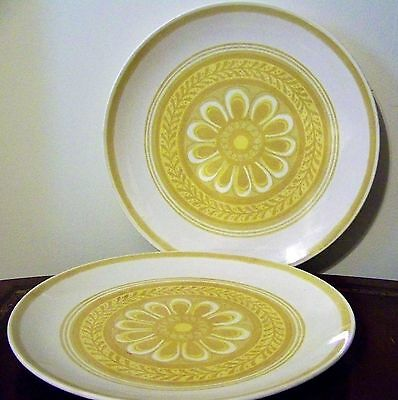 "Royal China USA 10"" Dinner Plate Set of 2 Casablanca Cavalier Ironstone Vintage"
