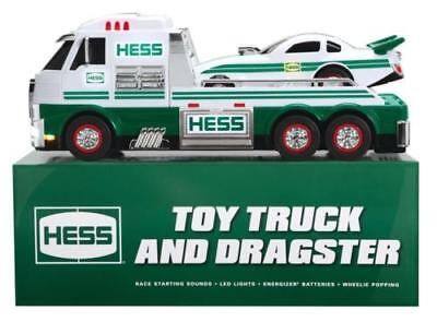2016 Hess Truck with Dragster  New in Box!   Extra Batteries Included