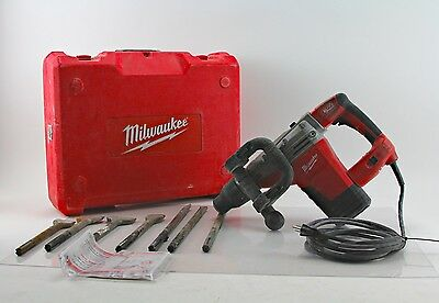 MILWAUKEE HEAVY-DUTY SDS MAX 14 LB DEMOLITION HAMMER w/ 7 BITS AND CARRY CASE