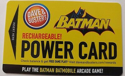 Dave & Busters Batman  Power Card / Collectible                         (H)