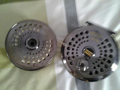 Salmon fly reel and spare spool and line
