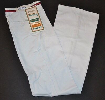VINTAGE New Maverick Blue Bell Juniors White Elastic Top Pants SIZE 5 80s