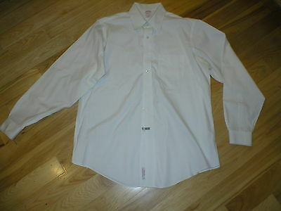 Vintage Brooks Brothers white dress shirt 16 & 1/2 36 long sleeve all cotton