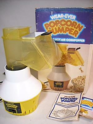 Vintage Wear Ever Popcorn Pumper Hot Air Corn Popper W/ Buttercup & Box #73000
