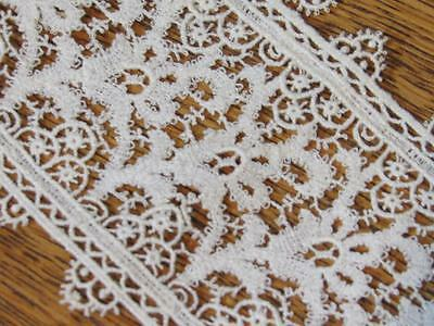 "ANTIQUE VINTAGE LACE TRIM Old-Stock 3"" Wide French Lace 5'"