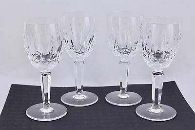 "Waterford Crystal Set Of 4 Kildare 5-7/8"" White Wine Glasses #1 - Mint"