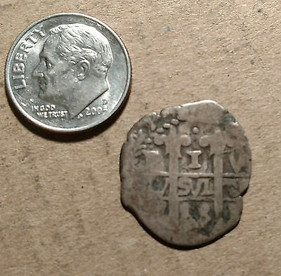 1718 Cob Potosi 1 Reale Real Bolivia Spain Colonial Silver Unknown