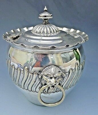 Antique THOMAS WILKINSON & SONS silver plated biscuit barrel or tobacco jar